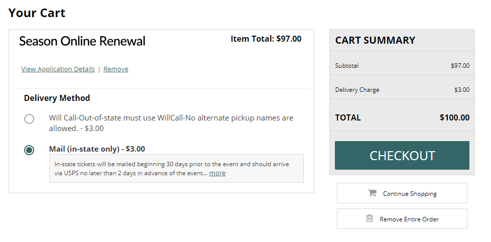 Renewal Cart